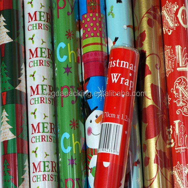 Wholesle 70cm x 3m Printed Christmas Gift Wrapping Paper Roll