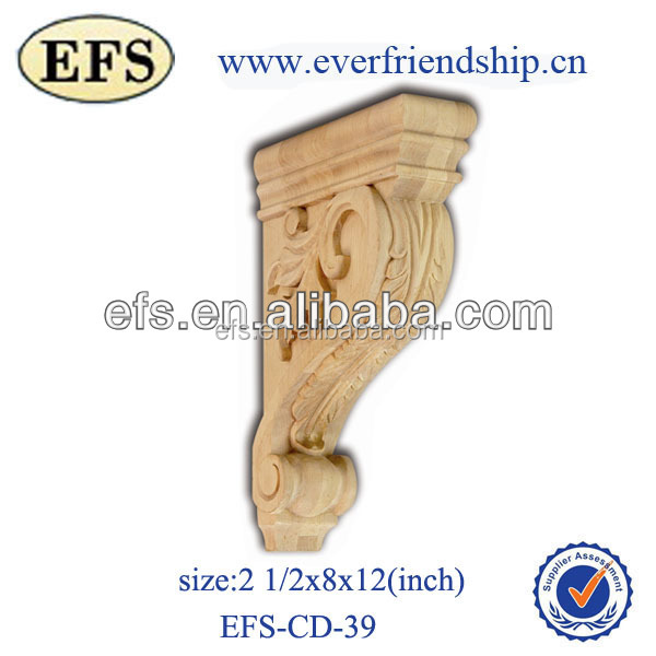 antique decorative wooden corbels