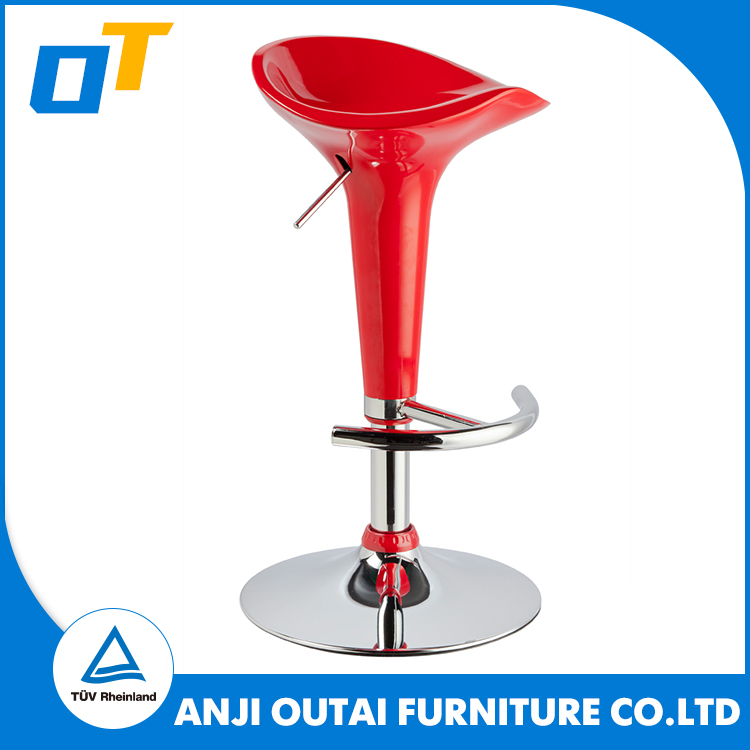 Strong Promotion Used Bar Stools In Red From YiFeng