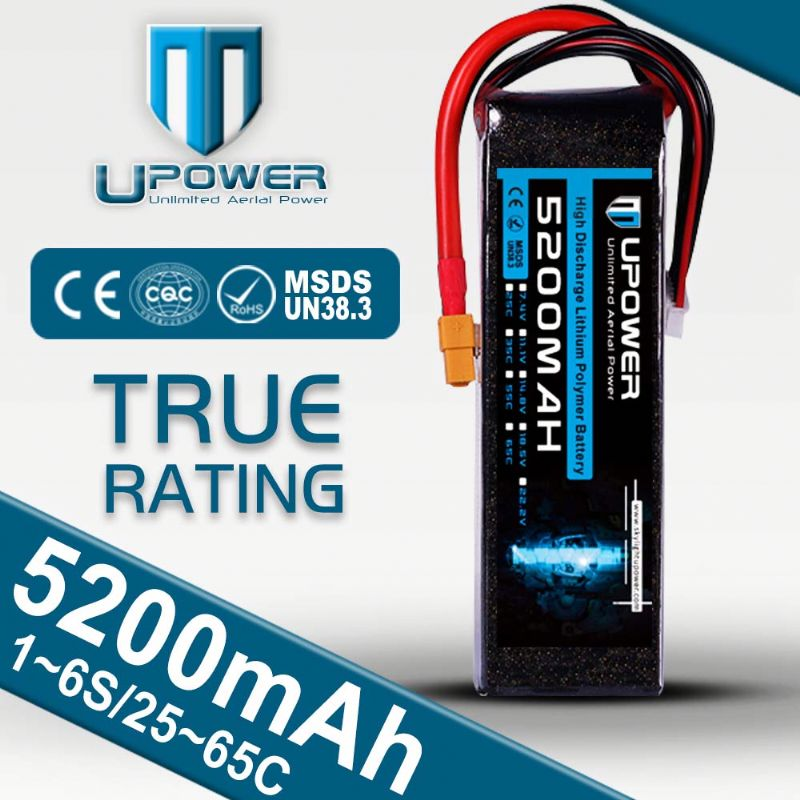 best multicopter 14.8v 5200mah 50c 40c rate battery with A grade cells