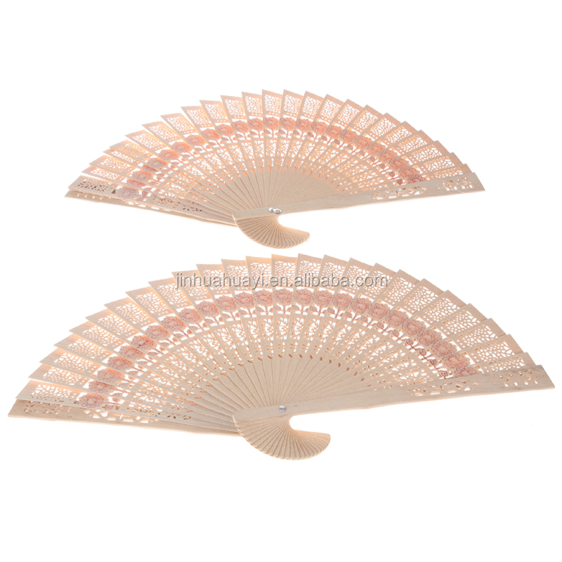 wholesale custom wood carving chinese hand fan