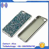 HK Fair Most Popular Suppliers Mobile phone Electroplating TPU Cases Diamond Back Covers for iphone 6
