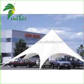 New Fashion White Star Shape Tent , Custom Made Pop Up Star Tent For Promotion