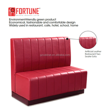Comfortable leather tufted booth sofa for restaurant