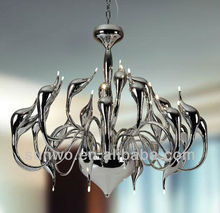 Silver Chandelier Swan Pendant Lighting