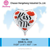 Foil material inflatable balloon in heart shape