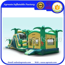 inflatable water slide tropical bouncer castle G3015