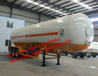 3 Axles 52m3 liquefied petroleum gas lpg tank trailer export to Africa Lowest Price for Sales