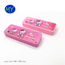 Factory hot sales 2 layers school custom plastic pencil case with CE certificate