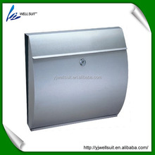 stainless steel curved waterproof wall mounted mailbox letterbox postbox newspaper holder