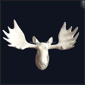 custom wall art 3d decoration resin deer head sculpture