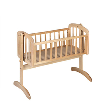 Ce Approved New Model Customized solid wood new born baby swing bed for sale