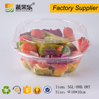 Disposable plastic transparent deli container clear food grade salad box