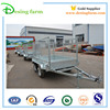 Galvanized box trailer with mesh cage for sale