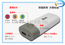 Brand new ENB 2*18650 Battery Smart Power Bank Case Box For Mobile Phone /ipad/MP4