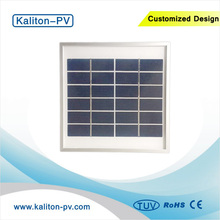 3W Watts 6V 500mA Transparent Glass Aluminum Frame Small Polycrystalline DIY Solar Panel 6V for Lighting Control
