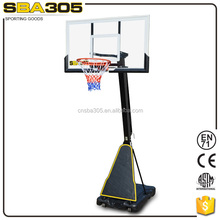 portable basketball stand with breakaway rim