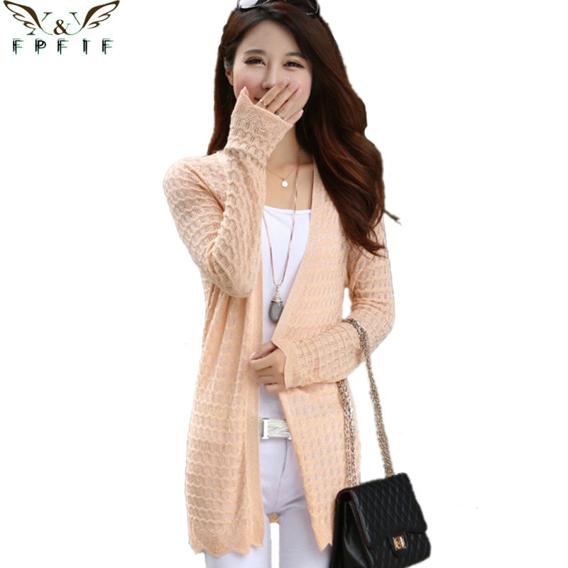 Free shipping 2015 fall and winter cardigan sweater Knitted Cotton V-Neck Orange/Purple/Blue Fashion Leisure Thin cardigan women