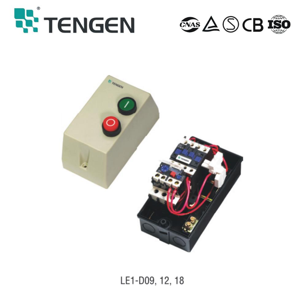 LE1-D 380V 18A three phase motor magnetic starter