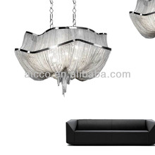Atlantis SIlver Chain Modern Chandelier Lights