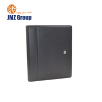 Custom Multi function folder Leather Padfolio With Zippered Closure