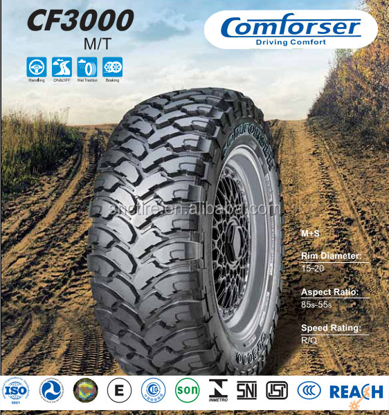 Alibaba China Suppier Car Tyre Manufacturer Passenger Car Tyre COMFORSER CF3000 M/T Tires
