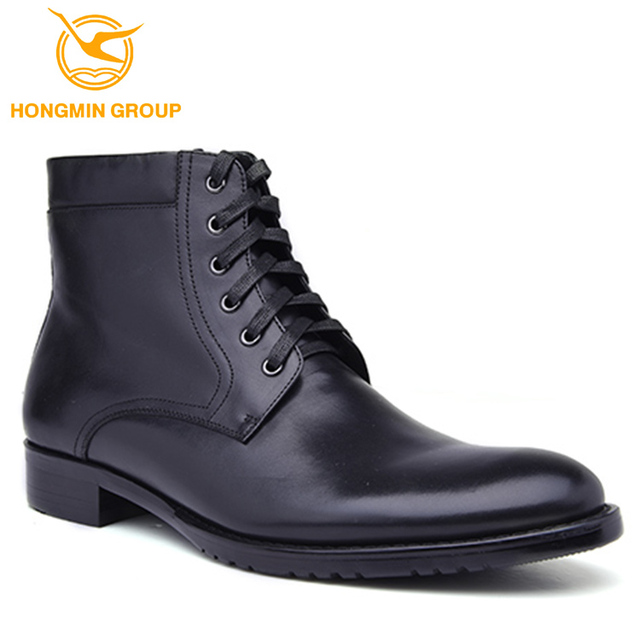 Waterproof wholesale cheap genuine cow leather black police hunting military combat british desert roman army boots for men