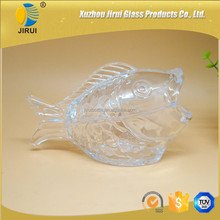 candy glass jar glass bottle fish shape