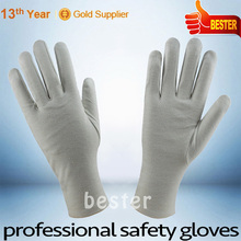 INTERLOCK FINGER style Cheap long life white pvc dotted cotton gloves