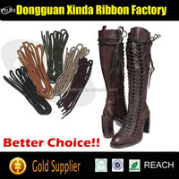 Round waxed shoe laces custom shoelaces boots laces