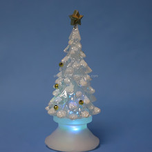 Plastic New Popular Christmas Indoor Ornaments Little tree with LED Light
