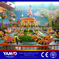 Outdoor amusement park toys for children amusement rides used rotating bee, self control plane