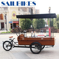 electric cargo coffee tricycle w/pedals
