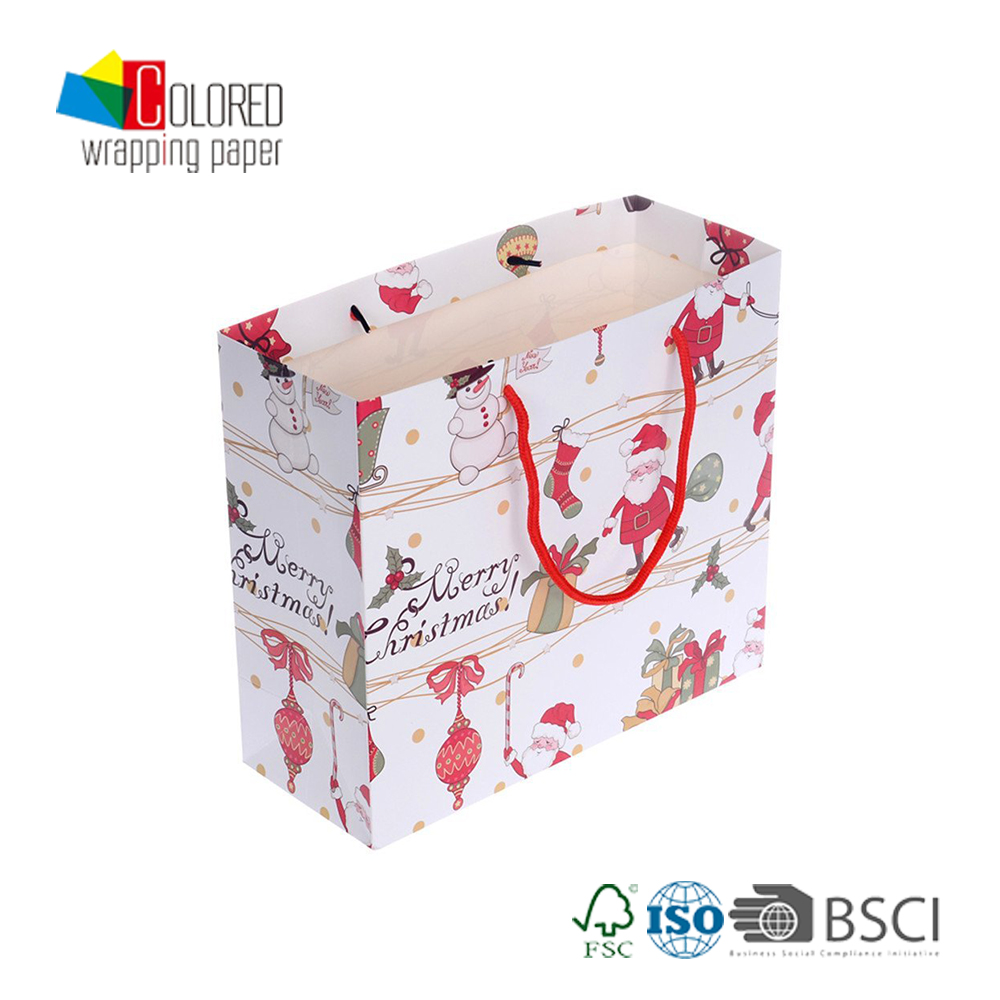 Generic and Fancy Christmas Paper Gift Bag With Cartoon Style