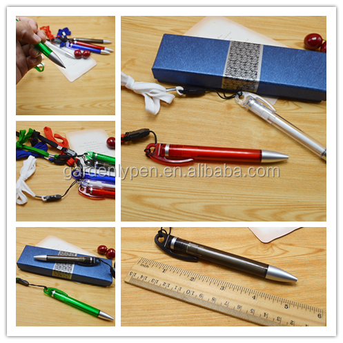 Customlize white body barrel with hook clip gift ball pen