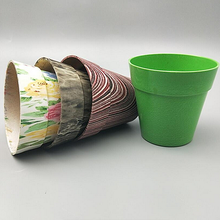 Bio Unbreakable Customized Color Bamboo Fiber Garden Flower Pot