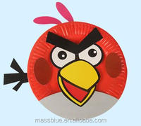 cartoon Birds paper plate