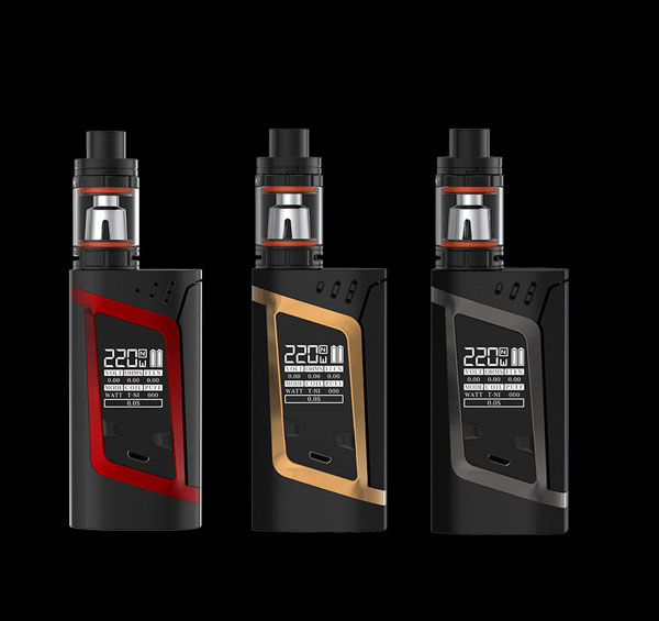 HeavenGifts Best Selling 3ml 220W SMOK Alien Kit E-Cigarette