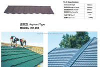 Aspirant type stone coated metal clay roof tiles for sale