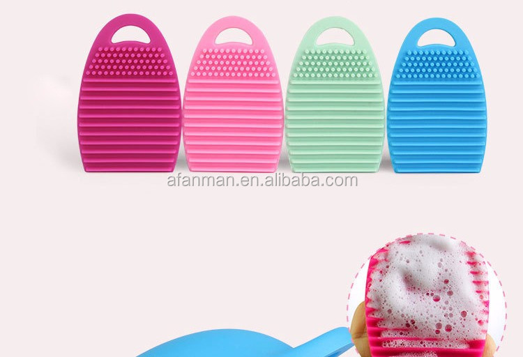 RoHS Oval Makeup Brush Mat Cosmetic Brush Cleaner Brush Egg Makeup Brush Cleaner Silicone