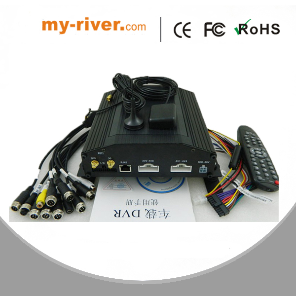 8-CH Vehicle Mobile Digital Video Recorder with a hard disk Built-in 4G, GPS Modules