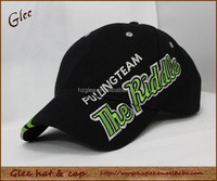 Cotton baseball hat with custom large logo embroidered over the hat