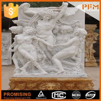 2015 hot sale natural stone wholesale hand carved interior modern white marble sculpture