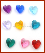 Hot selling heart birthstone floating locket charms