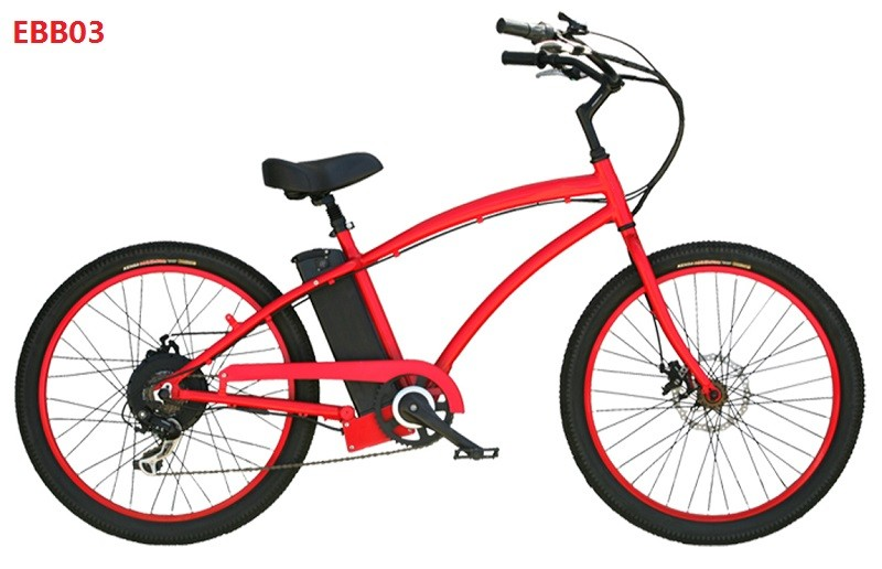 newly USA design 26inch beach tyre aluminmum frame electric bike with hidden battery