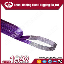 "2"" 6 times safety factor 6 ton lifting belt sling lifting web sling belt web belt material with long service life"