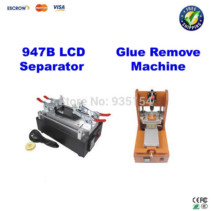 Freeshipping! 947B Screen split/refurbishment machine LCD separator for Iphone Samsung glass refurbishment+Glue remove machine
