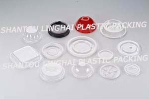 Flat Plastic Lid For Cups Or Bottles