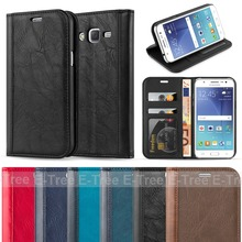 Flip leather case for samsung galaxy j5 2015 cellphone case, for samsung j5 back cover leather wallet