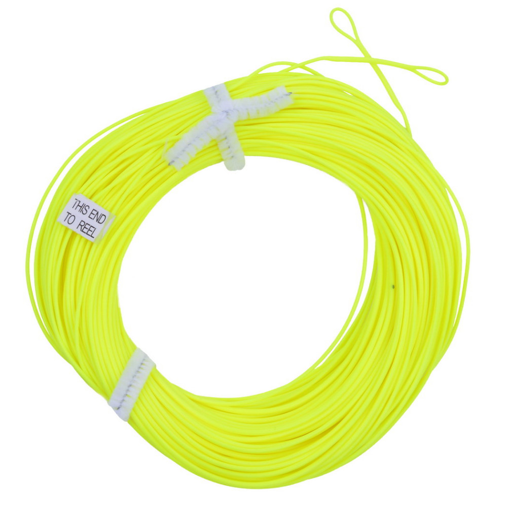 100FT Weight Forward Floating Fly Fishing Line WF-6F Fly Line Moss Green/Orange/Fluo Yellow Color